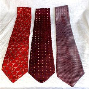 BURBERRY Ties-Lot of 3 Silk Neckties